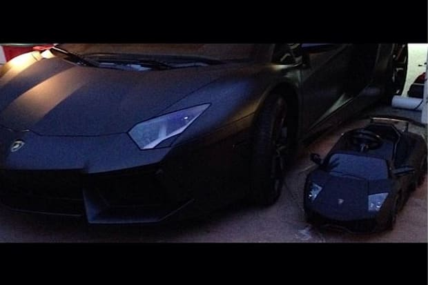 North and Kanye West's matching Lamborghinis