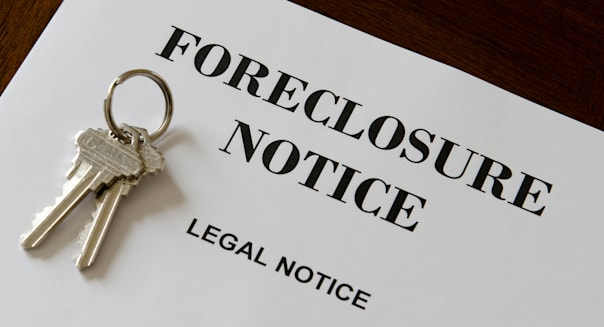 Real Estate Home Foreclosure Legal Notice And Keys