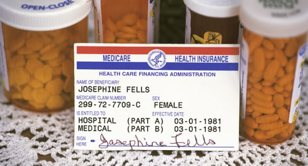 Medicare Card & Pill Bottles