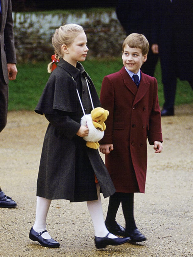 Prince William With His Cousin Zara Phillips As They Attend Church In Sandringham On Christmas Day. Behind Them Is Mark Phillips.  (Photo by Tim Graham/Getty Images)