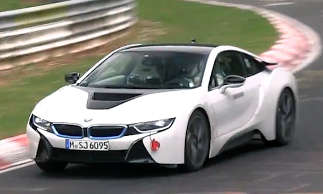 Watch the BMW i8 get wrung out on the Ring