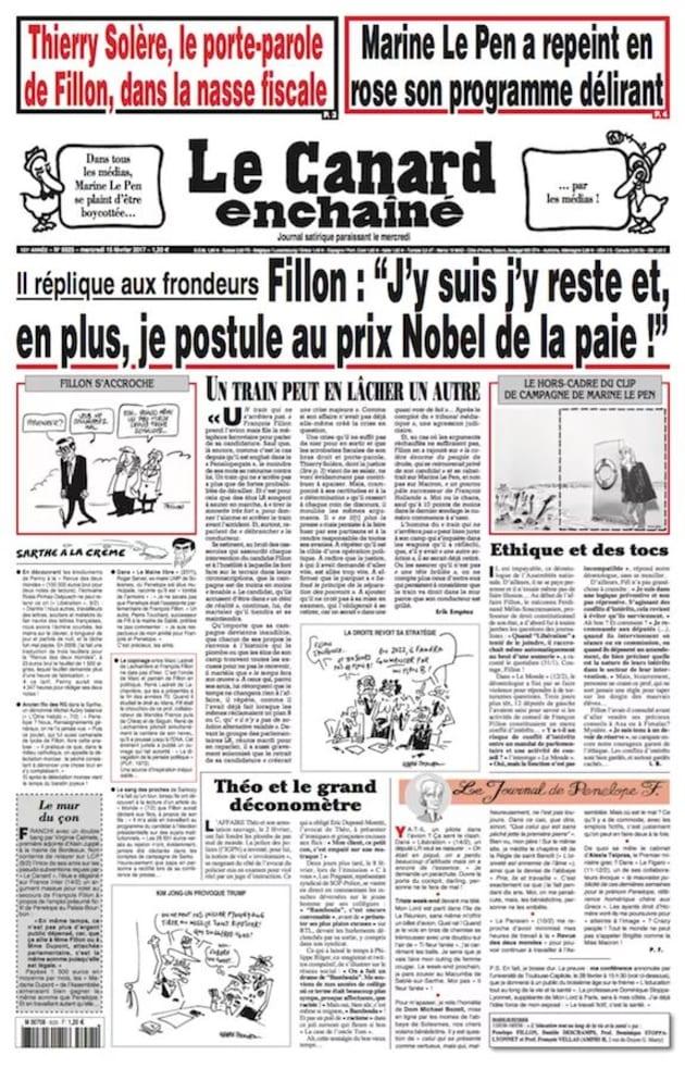 Thierry Sol 232 Re Le Porte Parole De Fran 231 Ois Fillon Porte Plainte Contre Quot Le Canard Encha 238 N 233