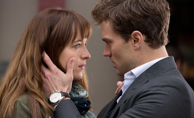 FIFTY SHADES OF GREY - 2014 FILM STILL - DAKOTA JOHNSON as Anastasia Steele and JAMIE DORNAN as Christian Grey - Photo Credit: Chuck Zlotnick  � 2015 Universal Studios and Focus Features. ALL RIGHTS RESERVED.