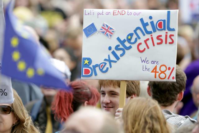 BRITAIN-EU/PROTESTS-LONDON
