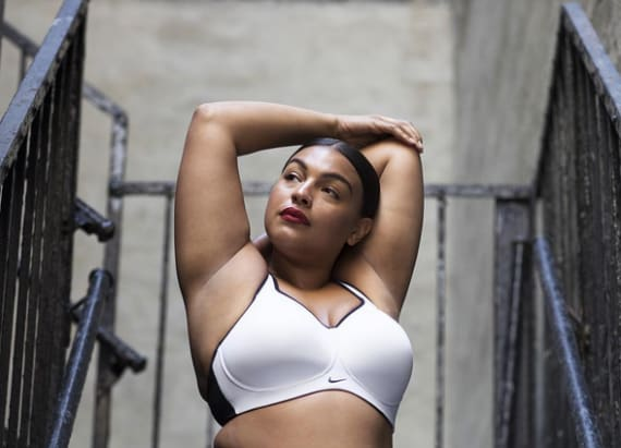 Nike featured a plus-size model on Instagram