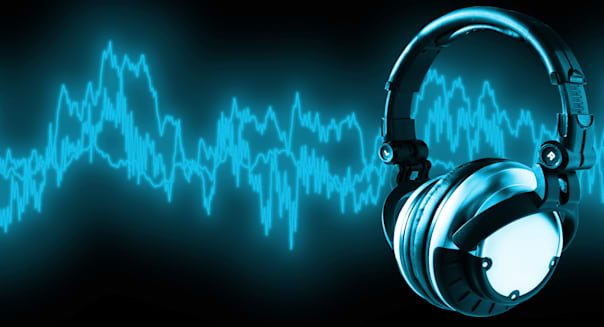 listen to music   clipping path ...