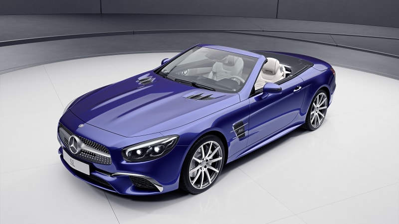 It's a Mercedes special edition-palooza with the SL designo and SLC RedArt models