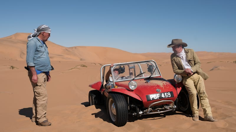 The grand tour trio tour africa in beach buggies in first special