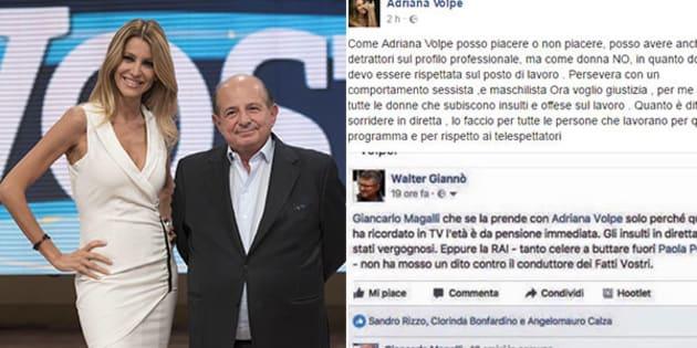 Giancarlo Magalli contro Adriana Volpe: