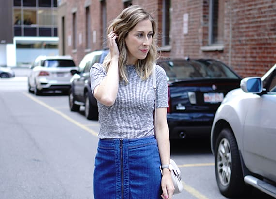 Street style tip of the day: Zipping through