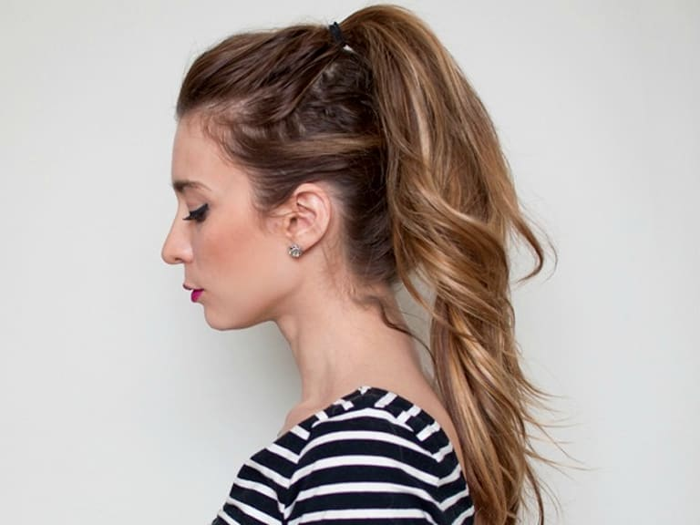 An easy extra-long ponytail hair tutorial