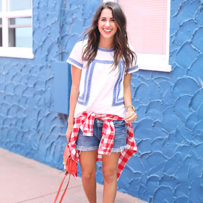 Street style tip of the day: Red plaid