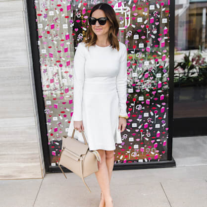 Street style tip of the day: Little white dress
