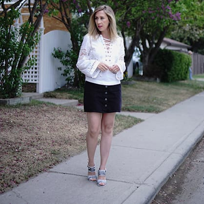 Street style tip of the day: White lace top