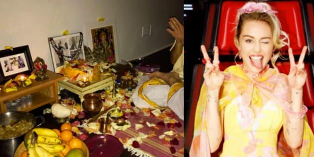 Miley Cyrus Performs Saraswati Puja, Gives Super Bowl A Miss