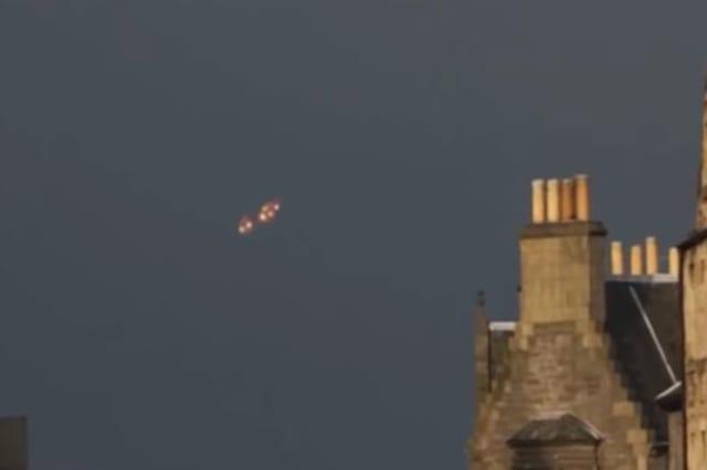 Orange 'UFO' lights up skies in France