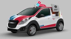 Domino's pizza delivery car