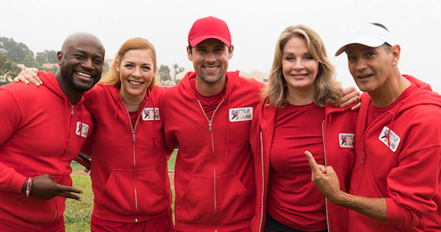 """BATTLE OF THE NETWORK STARS - In an ode to ABC's """"Wide World of Sports,"""" 100 TV stars from 14 different network and cable companies will take their athleticism to a new level as they compete - to feel """"the thrill of victory and the agony of defeat"""" - in the revival of """"Battle of the Network Stars,"""" based on the '70s and '80s television pop-culture classic, premiering on THURSDAY, JUNE 29 (9:00-10:00 p.m. EDT) on ABC. (ABC/Byron Cohen)TAYE DIGGS, RACHELLE LEFEVRE, BENJAMIN HOLLINGSWORTH, DEIDRE HALL, THOMAS CALABRO"""