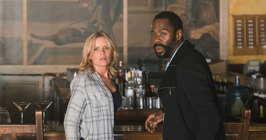 Colman Domingo as Victor Strand, Kim Dickens as Madison Clark - Fear The Walking Dead _ Season 2, Episode 9 - Photo Credit: Richard Foreman Jr/AMC