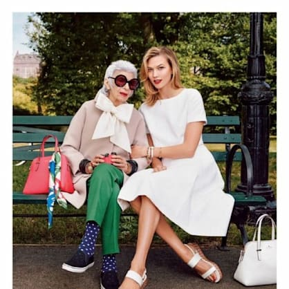 Iris Apfel and Karlie Kloss star in Kate Spade's spring campaign