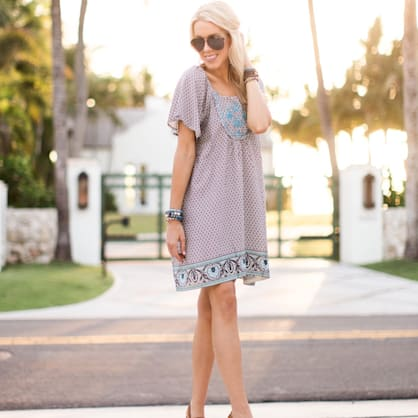 Street style tip of the day: Boho dress