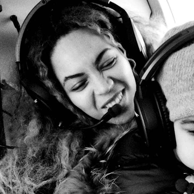 Beyonce Blue Ivy helicopter