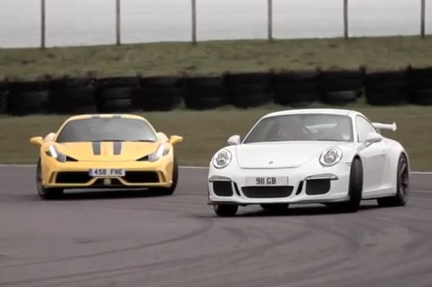 Chris Harris on Cars with Ferrari 458 Speciale versus Porsche 911 GT3