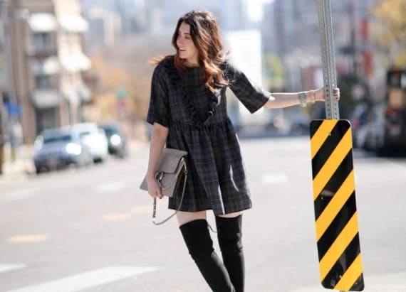 Street style tip of the day: Ruffled plaid