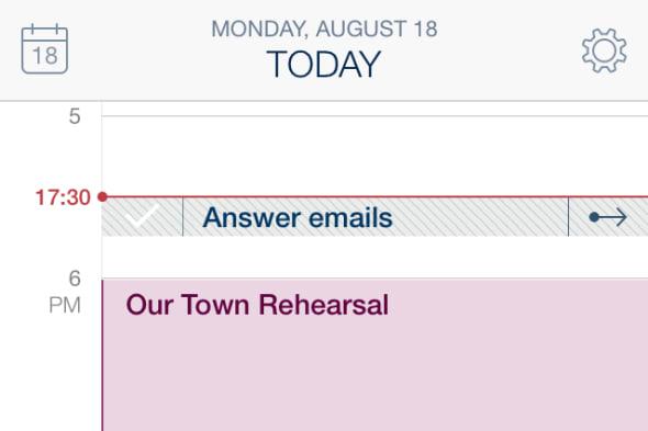 Task suggestions in calendar