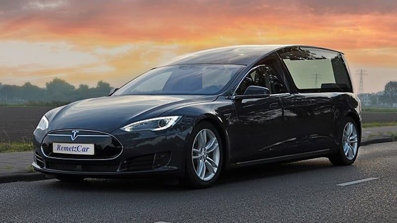 Tesla Hearse Is The Perfect Time To Use Autopilot Autoblog