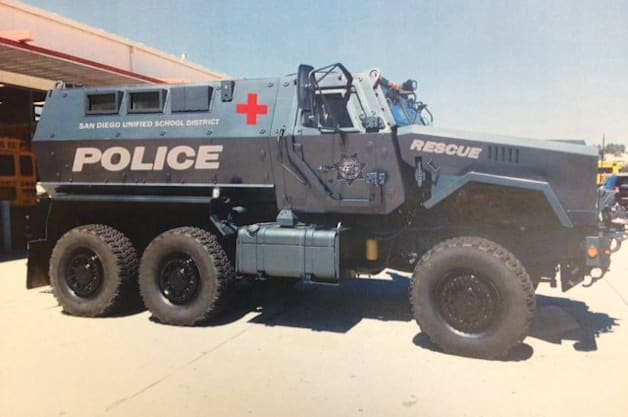Truant students beware  San Diego school district acquires MRAP