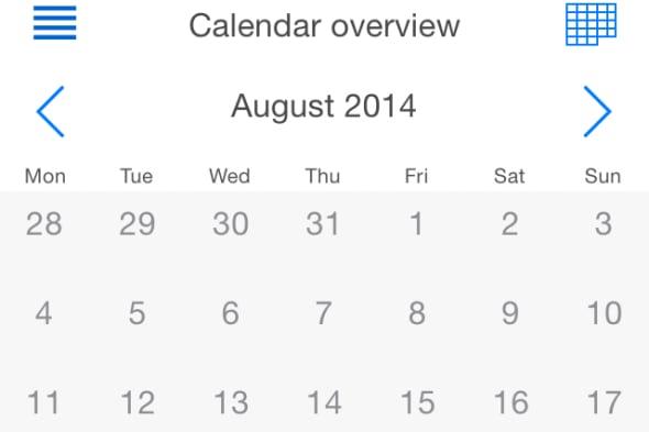 TimeTrack Free Calendar View