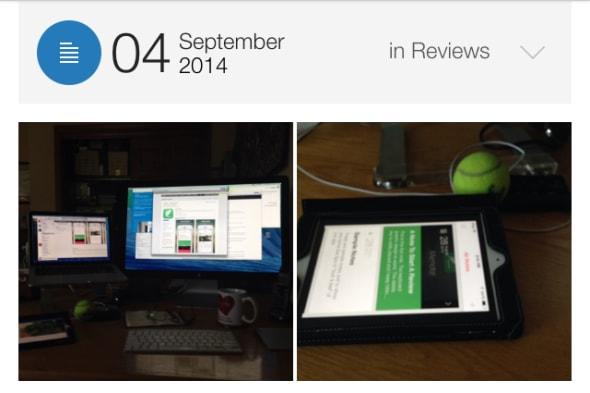 Menote diary app