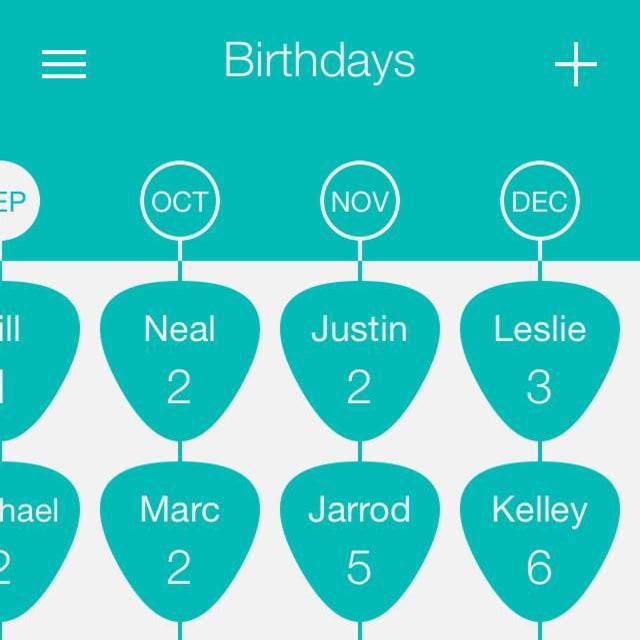 birthday board screenshot