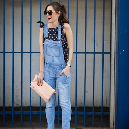 Street style tip of the day: Denim overalls
