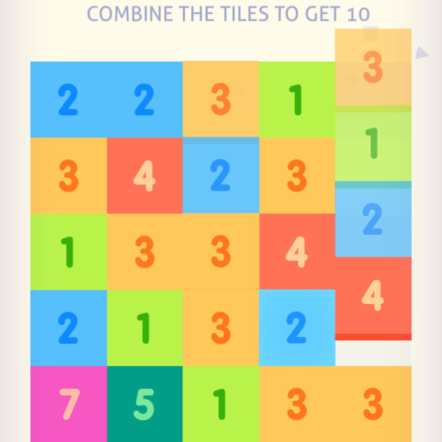 Players combine similarly numbered blocks in Just Get 10