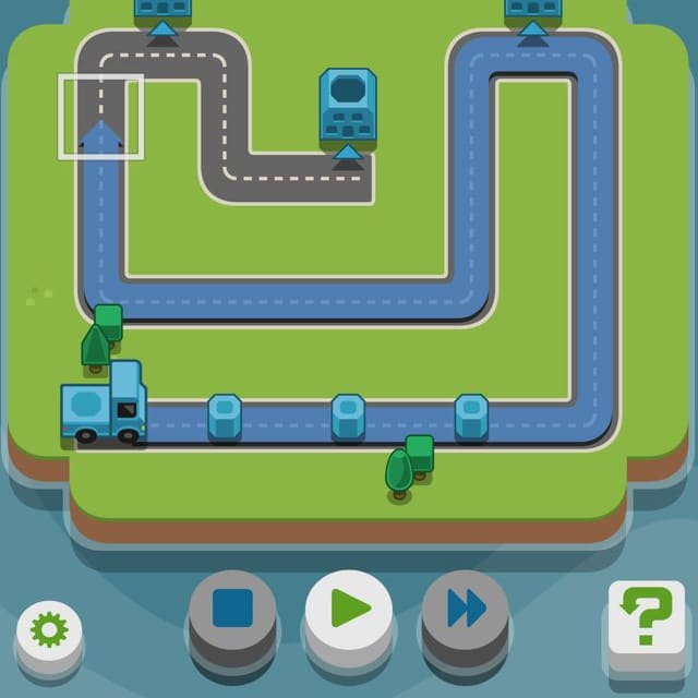 Players plan routes for miniature trucks in RGB Express
