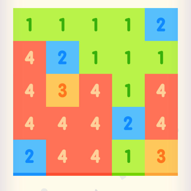 Players try to line up numbered tiles so that they can combine them numerous times to reach the number 10 in Just Get 10