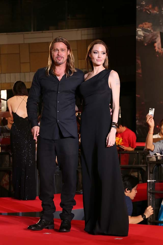 Angelina Jolie and actor Brad Pitt