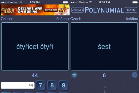 Polynumial language app