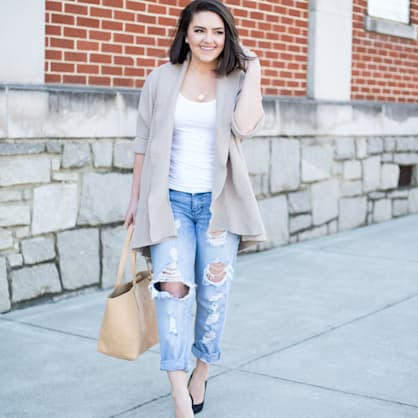 Street style tip of the day: How to wear boyfriend jeans