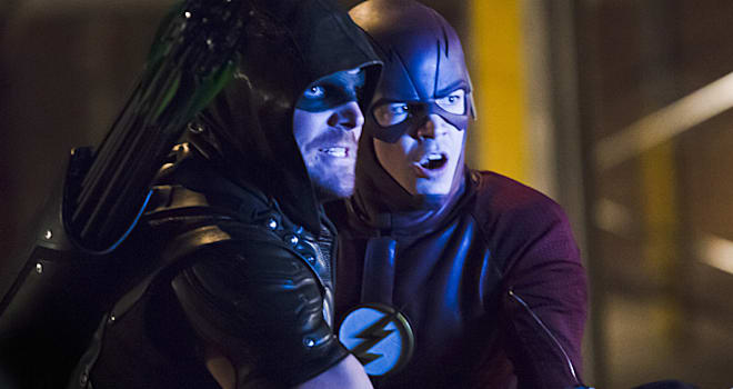 Tweet shows first look of The CW's upcoming four-way cross over