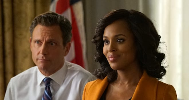 "SCANDAL - ""Hardball"" - After a tight race and shocking conclusion to the election, flashbacks reveal what happened on the campaign trail and just how far Olivia was willing to go to win.  Meanwhile, Fitz and Abby are faced with an unprecedented national crisis, and the gladiators are determined to get answers, on ""Scandal,"" airing THURSDAY, FEBRUARY 2 (9:01-10:00 p.m. EST), on the ABC Television Network. (ABC/Bryon Cohen)TONY GOLDWYN, KERRY WASHINGTON"