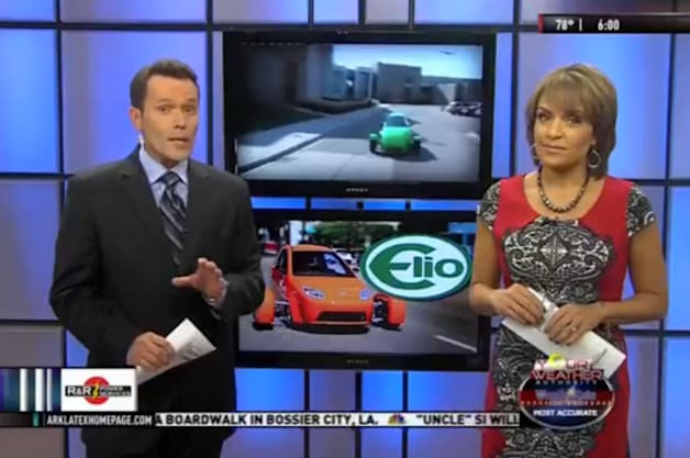 Elio Motors Factory on KTAL NBC 6 Screen Grab