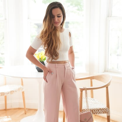 Street style tip of the day: Cropped trousers