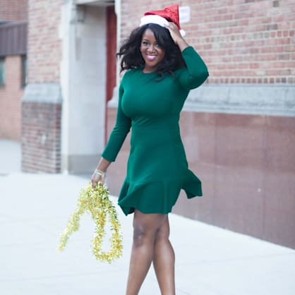 Street style tip of the day: Little green dress
