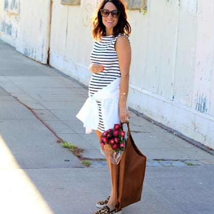 Street style tip of the day: Stripes & leopard