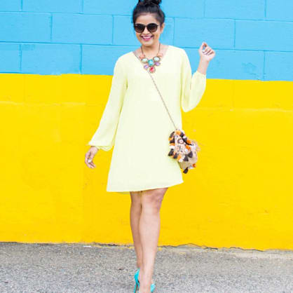 Street style tip of the day: The split-sleeve dress