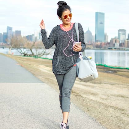 Street style tip of the day: Work out like it's a party!