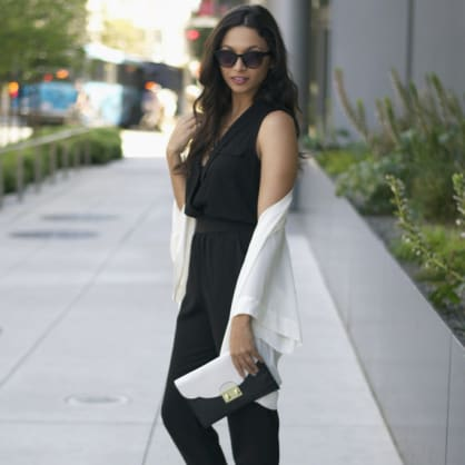 Street style tip of the day: Black and white chic